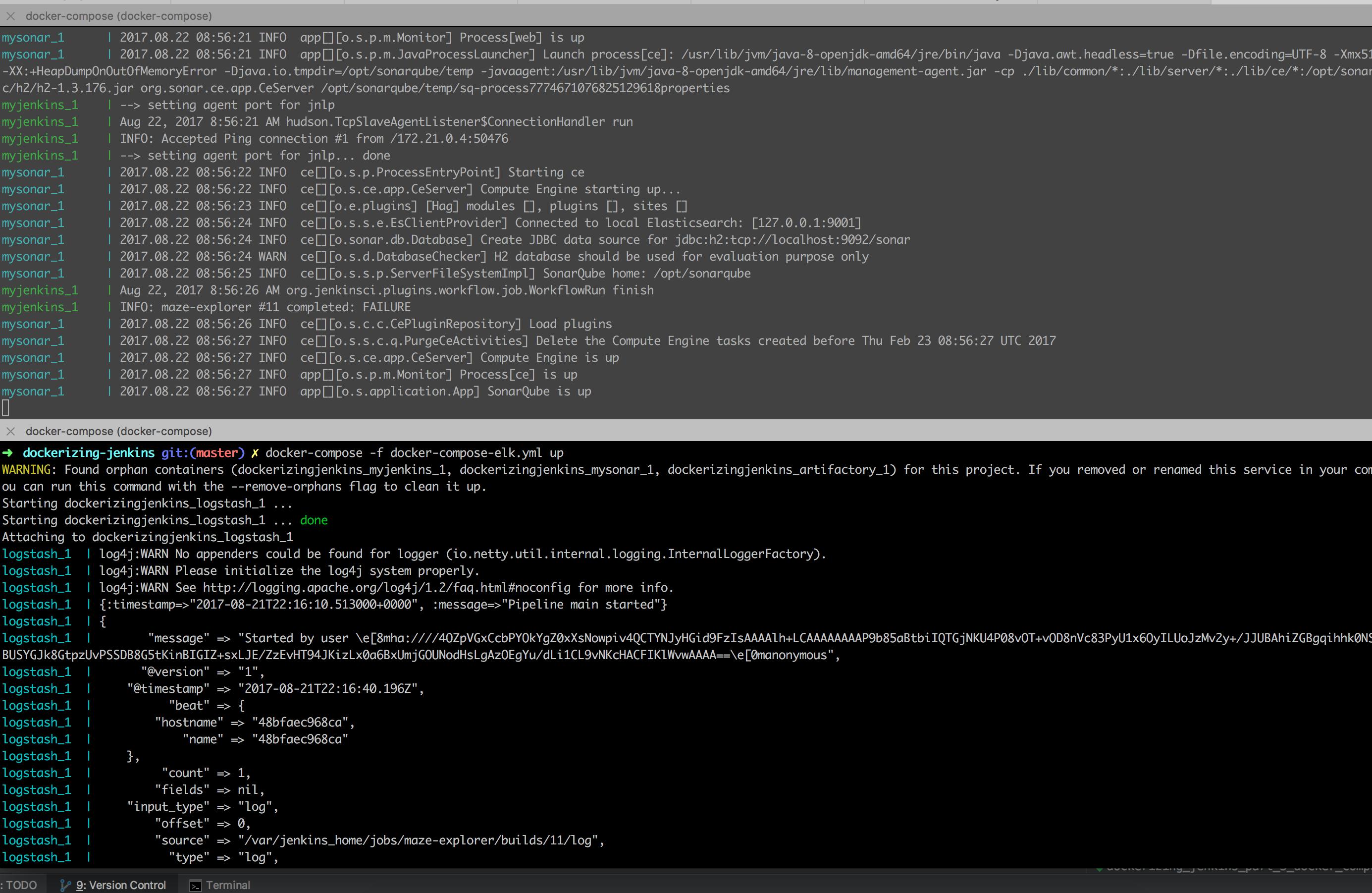Dockerizing Jenkins build logs with ELK stack (Filebeat