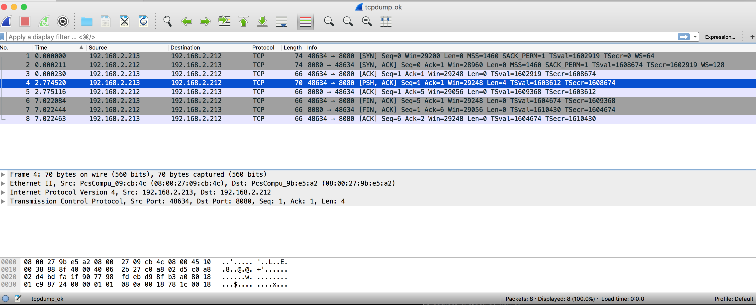 Wireshark Ubuntu Server
