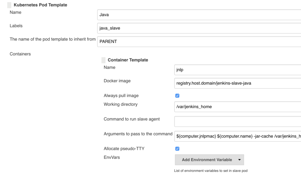 Advanced Jenkins setup: Creating Jenkins configuration as